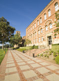 California College Campus. Brick buildings and walkway in a University campus in Los Angeles Stock Image