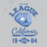 California College League Poster Stock Photos