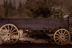 California Columbia carriage in an old Western Gold Rush Town Royalty Free Stock Photography