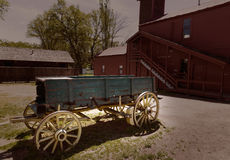 California Columbia carriage in an old Western Gold Rush Town Royalty Free Stock Images