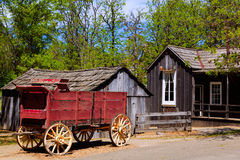 California Columbia carriage in an old Western Gold Rush Town Royalty Free Stock Photo