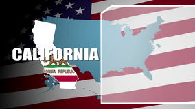 California Countered Flag and Information Panel stock video