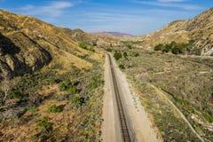California Desert Canyon Railroad Stock Image