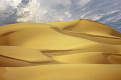 California Desert Sand Dunes. Beautiful shifting sands of the Imperial Dunes, California, are managed by the United States Bureau of Land Management Stock Photos