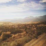 California desert in a summer. Somewhere near Los Angeles. Californian mountains, USA Stock Photography