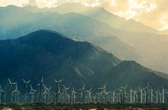 California Desert Wind Turbines Royalty Free Stock Photography