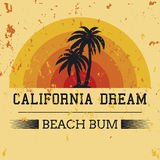 California dream typography, t-shirt graphics. vector illustrati Royalty Free Stock Images