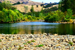 California Drought American River Royalty Free Stock Photo