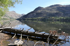 California Drought Sierra Nevada Silver Lake. The drought in California is causing hardships in California lakes Royalty Free Stock Photo