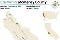 California: El condado de Monterey ilustración del vector