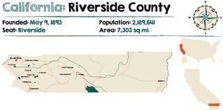 California - el condado de Riverside stock de ilustración
