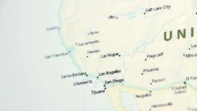 California en un mapa con Defocus libre illustration