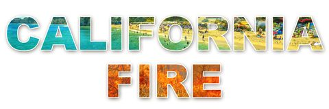California Fire background royalty free stock images