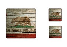 California flag Buttons Royalty Free Stock Photo