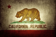 California flag. Closeup of grunge California flag royalty free stock photography