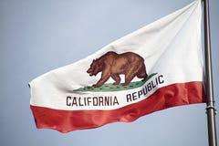 California flag. The great bear on the California flag royalty free stock photos