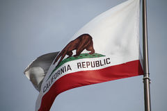 California flag. The great bear on the California flag stock photos