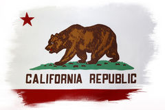 California flag. On plain background stock photos