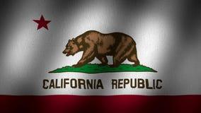 California flag stock footage