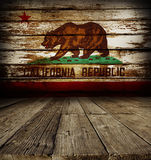 California flag on wall Royalty Free Stock Photography
