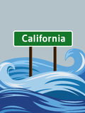 California flood Royalty Free Stock Image