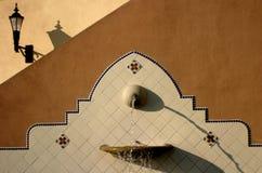 California Fountain. An outdoor fountain features ceramic tile accents stock photography