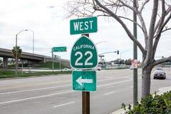 California 22 Freeway sign stock image