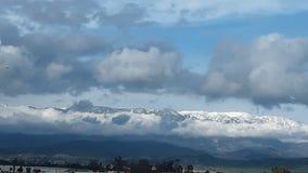 California frosty mountains stock photo