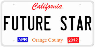 California Future Star Royalty Free Stock Photo