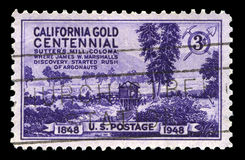 California Gold Centennial Postage Stamp Stock Images