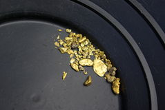 California Gold Nuggets Royalty Free Stock Photography