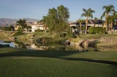 California Golf Course Home Stock Image