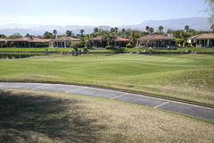 California golf course homes Stock Images