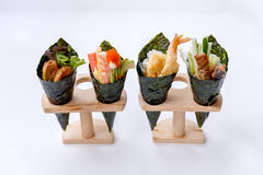 California Hand Roll Sushi Set. Royalty Free Stock Photos