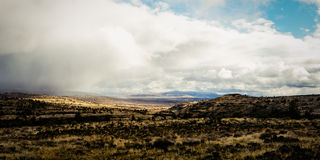 California high desert. A stitched panorama of the California high desert in winter Stock Photography