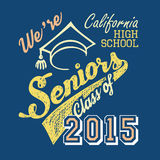 California high school Seniors t-shirt Royalty Free Stock Photo
