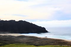 California highway 1 one Pacific ocean. California blue sky on the coast near big sur royalty free stock photos