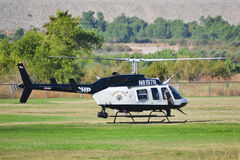 California Highway Patrol - Bell 206-L4. LOS ANGELES, CA. - JUNE 30: California Highway Patrol - Bell 206-L4 - American Heroes Air Show on June 30, 2012 in Los Stock Photography