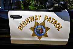 California Highway patrol Car Door Shield Stock Image