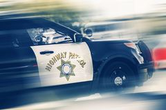 California Highway Police royalty free stock photos