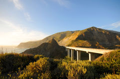 California Highway 1. California scenic west coast Highway 1 Royalty Free Stock Images
