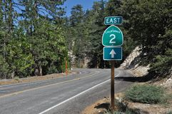 California Highway 2 Royalty Free Stock Photography