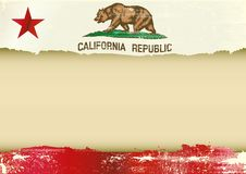 California horizontal scratched flag stock illustration