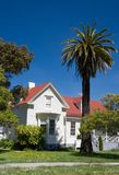 California house. A california house in San Francisco, with a palm tree in the front stock images