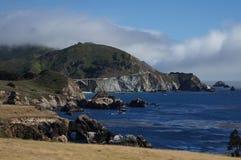 California HWY 1 e ponticello di Bixby Fotografia Stock