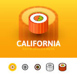 California icon in different style Royalty Free Stock Photos