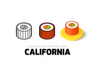 California icon in different style Stock Images