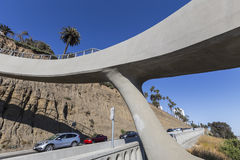 California Incline Pedestrian Bridge Santa Monica California Stock Photo
