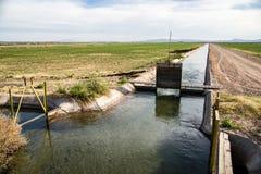 California Irrigation Ditch Stock Photography