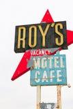 California, la muestra del motel del ` s de Roy fotografía de archivo